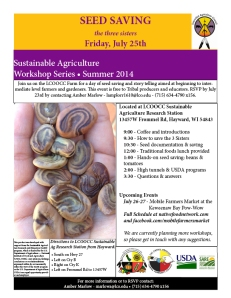 Seed Saving Flyer July 2014